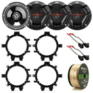 "1995-2005 GM Speaker Adapters, JVC 6.5""300W Speakers, Speaker Harness and Wiring (R-2CSDR620-272-4568-282-3002-EB14G50FT-CCA)"