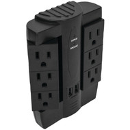 FOXSMART 40102 6-Outlet Swivel Surge Protector with 2 USB Ports (R-40102)