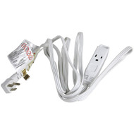 FOXSMART 40201 3-Outlet Grounded Extension Cord, 8ft (R-40201)