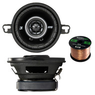"""Jensen Gauge Marine Stereo, 4x 6.5"""" Speakers + Enrock USB / AUX To RCA Cable (R-43DSC3504-1-EB16G50FT-CCA)"""