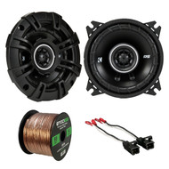"2x Kicker 4"" 120 Watt Speakers, Speaker Wire Harness, 16G 50Ft Wire (R-43DSC404-1-72-4568)"