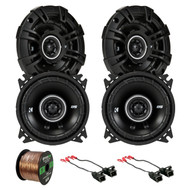 "4X Kicker D-Series 4"" 120 Watt Speakers, 2X Wire Harness, Enrock 16G 50Ft Wire (R-43DSC404-2-72-4568)"
