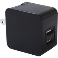 IWERKZ 44563 3.4-Amp Dual-Port USB Wall Charger (Black) (R-44563)