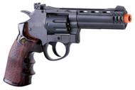 Game Face Gf600 (Grey/ Brown)Co2 Powered Semi-Auto 8 Shot 357 Revolver (R-ACG357)