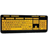 Adesso AKB-132UY EasyTouch(TM) 132 Luminous Large-Print Desktop Keyboard (R-AEOAKB132UY)