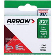 "Arrow 21424 Thin Wire Staples, 1,000 pk (1/4"") (R-AFC21424)"