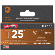 "ARROW FASTENER 256 T25 Round Crown Staples, 3/8""/10mm; 1,000 pk (R-AFC256)"