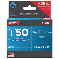 "ARROW FASTENER 50624 T50(R) Staples, 1,250 pk (3/8"") (R-AFC50624)"