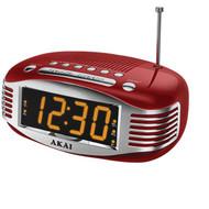 AKAI CE1500R Retro-Style AM/FM Dual Alarm Clock Radio (R-AKAICE1500R)