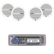"Dual AM400W Marine CD USB Weatherband Radio, 6.5"" Dual 60W Marine Boat Speakers (R-AM400W-2XRBDMP66)"