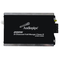 Audiopipe Mini Design 2 ch. Class D Amplifier 2X100 Watts RMS (R-APMA2100)