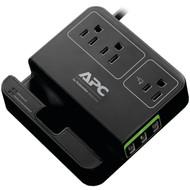 APC P3U3B 3-Outlet SurgeArrest(R) Surge Protector with 3 USB Ports (Black) (R-APNP3U3B)