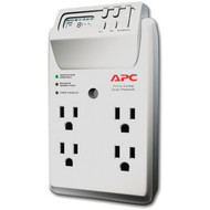 APC P4GC 4-Outlet Energy-Saving Surge Protector Wall Tap with LCD Timer (R-APNP4GC)