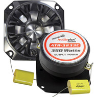 Audiopipe Bullet Tweeter 350 Watts 4 Ohm Silver With Grill (R-ATR3233C)
