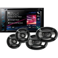 "Pioneer AXT-2869BT 6.2"" DVD Bluetooth Receiver - Bundle With 2x TS-165P 6.5"" 2-Way Speaker + 2x TS-695P 6x9"" 3-Way Speakers (R-AXT2869BT)"