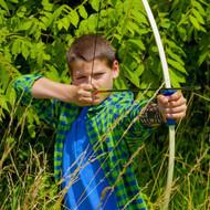 "Crosman Hawksbill (Black)Youth Long Bow W/ 2-26""Arrows Rubber Sight Arm Guard Belt Quiver (R-AYR1524)"