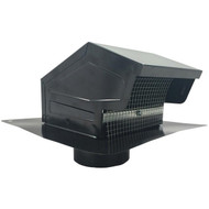 "BUILDERS BEST 012635 Black Metal Roof Vent Cap (4"" Collar) (R-BDB012635)"