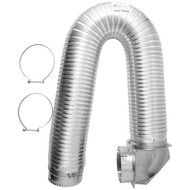 "BUILDERS BEST 111718 4"" x 8ft UL Transition-Duct Single-Elbow Kit (R-BDB111718)"