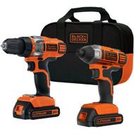 BLACK & DECKER BDCD220IA 20-Volt MAX* Lithium Drill/Driver & Impact Driver Combo Kit (R-BDKBDCD220IA)