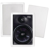 """BIC AMERICA M-PRO6W 6.5"""" Weather-Resistant In-Wall Speakers (R-BICMPRO6W)"""