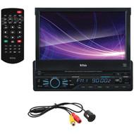 "BOSS AUDIO BVB9967RC 7"" Single-DIN In-Dash Motorized DVD/MP3/CD & AM/FM Receiver with Bluetooth(R) & Rear Camera (R-BOSBVB9967RC)"