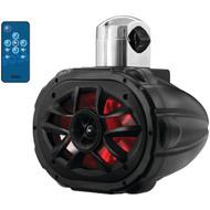 "BOSS AUDIO MRWT69RGB 6"" x 9"" 600-Watt 4-Way Marine Wake Tower Speaker with RGB LED Lights (R-BOSMRWT69RGB)"