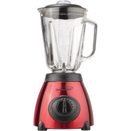 BRENTWOOD JB-810 5-Speed Blender with Stainless Steel Base & Glass Jar (Red) (R-BTWJB810)