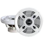 """BAZOOKA MAC6510W Marine 2-Way Coaxial Speakers (6.5"""", White) (R-BZKMAC6510W)"""