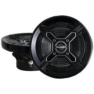 "BAZOOKA MAC8100B Marine 2-Way Coaxial Speakers (8"", Black) (R-BZKMAC8100B)"