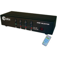 CE LABS HM41SR 4-In, 1-Out HDMI(R) Switcher with Remote (R-CEIHM41SR)