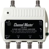 CHANNEL MASTER CM-3414 Ultra Mini Distribution Amp (4 Port) (R-CMSTCM3414)