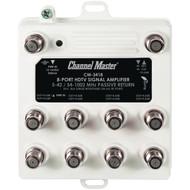 CHANNEL MASTER CM-3418 Ultra Mini Distribution Amp (8 Port) (R-CMSTCM3418)