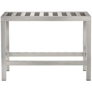 Brooklyn Collection CON06 The Brooklyn Collection Stainless Steel Vanity Bench (R-CNRCON06)