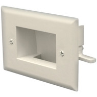 DATACOMM ELECTRONICS 45-0008-IV Easy-Mount Recessed Low-Voltage Cable Plate (Ivory) (R-DCM450008IV)