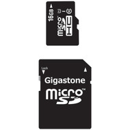 GIGASTONE GS-2IN1C1016G-R Class 10 UHS-1 microSDHC(TM) Card & SD Adapter(16GB) (R-DEM2IN1C1016GR)