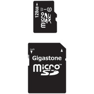 GIGASTONE GS-2IN1X10128G-R Class 10 UHS-1 microSDHC(TM) Cards & SD Adapter (128GB) (R-DEM2IN1X10128G)
