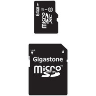 GIGASTONE GS-2IN1X1064G-R Class 10 UHS-1 microSDHC(TM) Cards & SD Adapter (64GB) (R-DEM2IN1X1064GR)