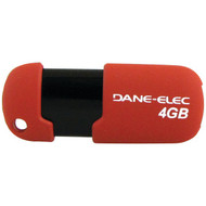 DANE-ELEC DA-ZMP-04G-CA-R3-R Capless USB Pen Drive (4GB; Red) (R-DEMDAZMP04G3R)