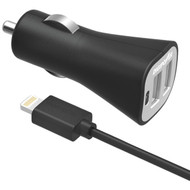 DIGIPOWER IS-PC2DL InstaSense(TM) 2.4-Amp Dual-USB Car Charger with 5ft Lightning(R) Cable (R-DGPISPC2DL)