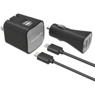 DIGIPOWER IS-PK2ML InstaSense(TM) 2.4-Amp Dual-USB Car Charger & Wall Charger (R-DGPISPK2ML)