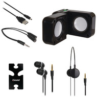 DREAMGEAR ISOUND-1614 5-in-1 Travel Sound Kit (Black) (R-DRM1614)