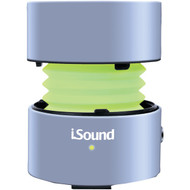 ISOUND ISOUND-5288 Fire Glow Mini Wired Speaker (Silver) (R-DRM5288)