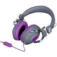 DREAMGEAR DGHM-5524 HM-260 Headphones with Microphone (Purple) (R-DRM5524)