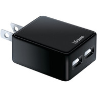 ISOUND ISOUND-6854 2.4-Amp Dual-USB AC Charger with Micro USB Cable (R-DRM6854)