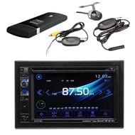 "Dual 6.2"" DVD Bluetooth USB Radio, Waterproof Backup Camera, DualCast Dongle (R-DV637MB-XCAM500)"