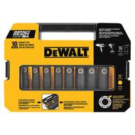 "Dewalt 1/2"" 10 Pc. Impact Ready Socket Set (Sae) (R-DW22812)"