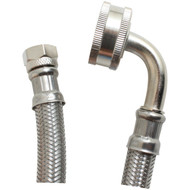 CERTIFIED APPLIANCE DW72SSL Braided Stainless Steel Dishwasher Connector with Whirpool(R) Elbow (6ft) (R-DW72SSL)