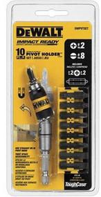 Dewalt 10 Pc Pivot Holder Set W/Bit Bar (R-DWPVSETG)
