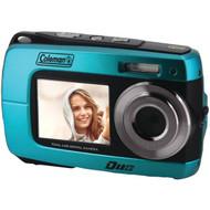 COLEMAN 2V8WP-BL 18.0-Megapixel Duo 2V8WP Dual-Screen Waterproof HD Digital Camera (Blue) (R-ELB2V8WPBL)