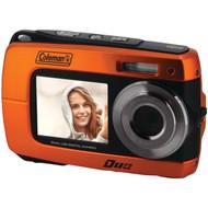 COLEMAN 2V8WP-O 18.0-Megapixel Duo 2V8WP Dual-Screen Waterproof HD Digital Camera (Orange) (R-ELB2V8WPO)
